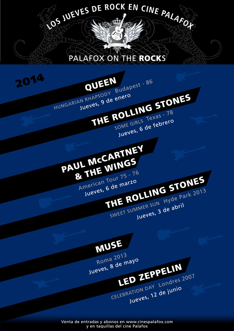 Disfruta de conciertos historicos con Palafox on the Rocks